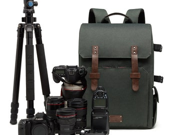 Camera Backpack   Vintage   Minimalist Travel Accessories   Gifts for Men & Women   DSLR and SLR  Canon   Nikon   Legatus Pro Camera Bag