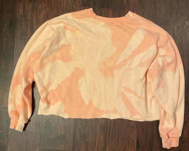 distressed cropped sweatshirt Repurposed