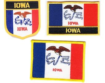 Vintage Iowa State Flag The Hankeye State Biker Patch