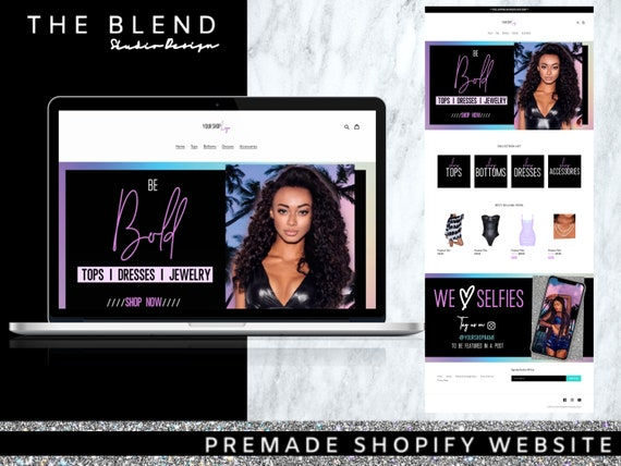Premade Shopify Clothing Boutique Website Clothing Vendor Hair Website Premade Website Shopify Website