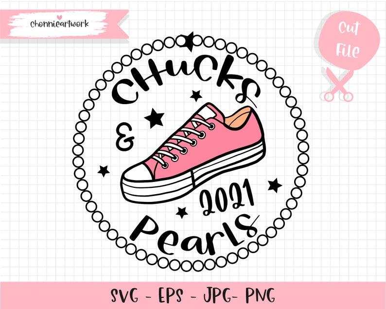 Chucks and pearls 2021 svg cut file for cricut Chucks and Pearls 2021 SVG Kamala Harris SVG