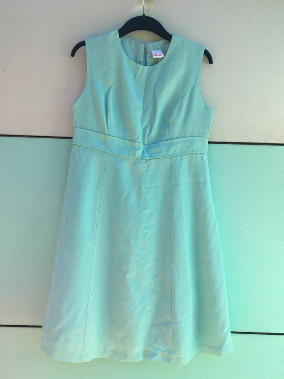 turquoise vintage pencil dress from Norway