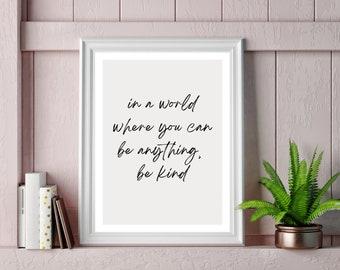 Minimalist Inspirational Kindness Quote
