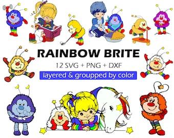Rainbow brite svg, Rainbow brite clipart, Rainbow brite clip art