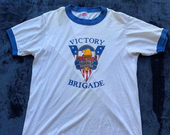 80s Retro Tunic Shirt  1980s fashion  ringer style