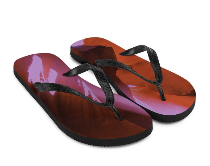 Colorful Antelope Canyon Flip-Flops Colorful Printed Thongs Shoes