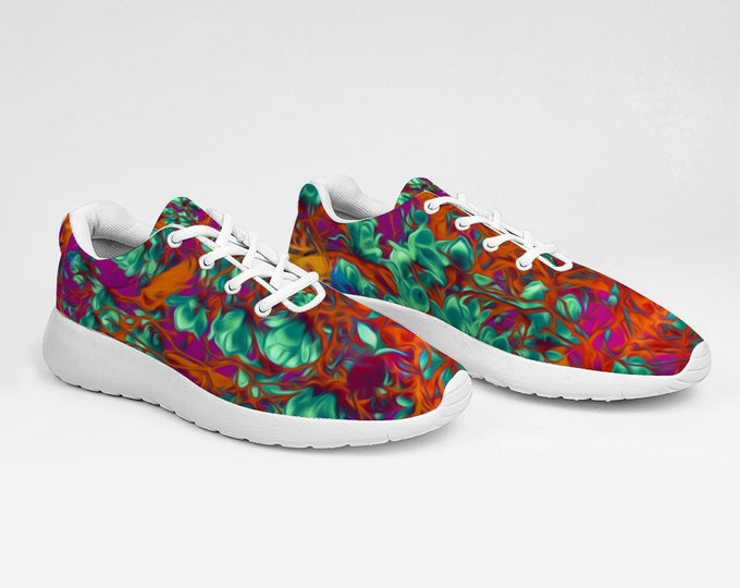 Flowers Design Breathable Sneakers Ultra Lightweight Running Shoes