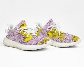 Yeezy Boost 350 V2 Style Daisies Sneakers Lightweight Running Shoes