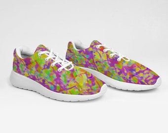 Abstract Design Pink Breathable Sneakers Ultra Lightweight Running Shoes