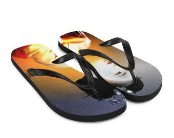 Geisha Flip-Flops Colorful Printed Thongs Shoes