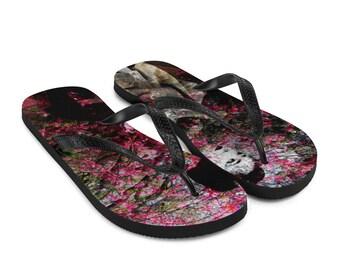 Cherries in Blossom Flip-Flops Printed Thongs Shoes