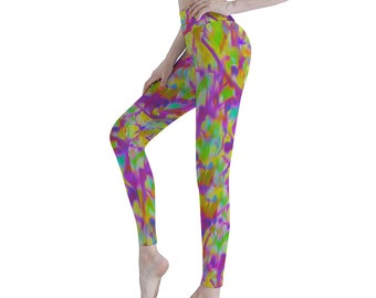 Colorful Designer Women's Sports Yoga Pants Athletic Pants Classic Fit Printed Leggings Workout Gym