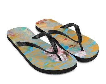 Spring Love Flip-Flops Colorful Design Thong Shoes