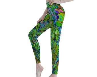Tropical Women's Sports Yoga Pants Athletic Pants Classic Fit Printed Leggings Workout Gym