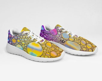Yellow Purple Breathable Sneakers Ultra Lightweight Running Shoes