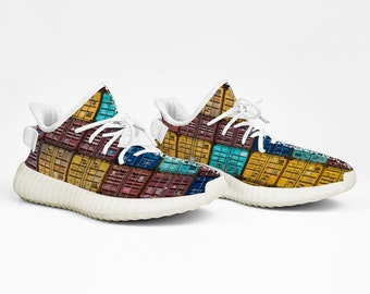 Yeezy Boost 350 V2 Style Containers Design Sneakers Lightweight Running Shoes