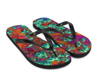 Summer Love Flip-Flops Colorful Printed Thongs Shoes
