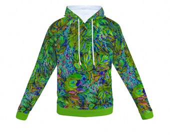 Tropical Forest All Over Print Hoodie Hooded Sweatshirt with Pockets