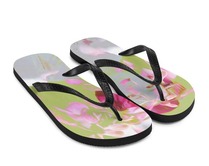 Japanese Blossom Flip-Flops Colorful Printed Flip Flops
