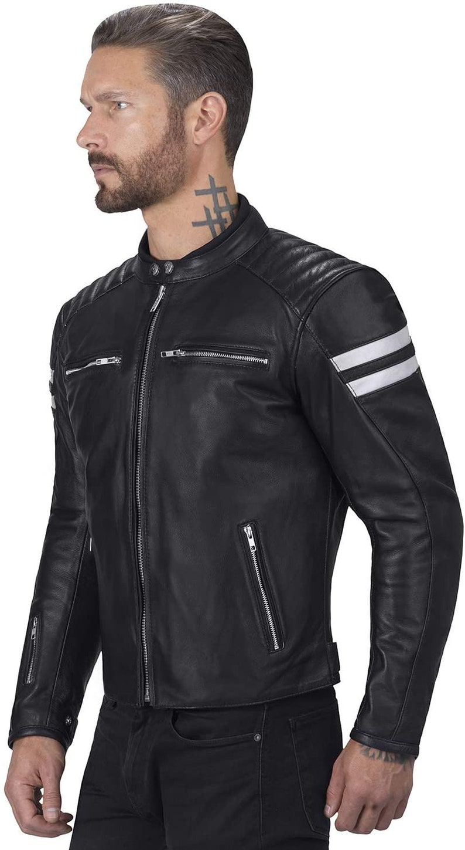 Black Vintage Custom Motorbike Leather jackets for Men Black Men/'s Leather jackets with Armor Protection