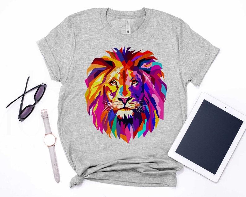 I Love Jesus T-Shirt Sweatshirt Hoodie Jesus Sweatshirt Cool Lion Head Design With Bright Colorful T-Shirt Long Sleeve Worship Shirt