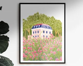 Illustration in spring in Bourg-en-Bresse