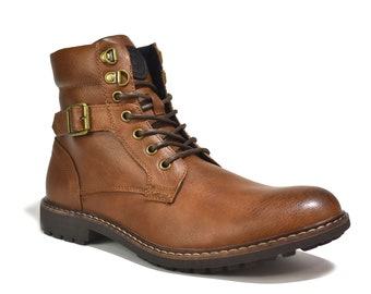 Mens New Lace Up Outdoor Anti-Slip  Boots Comfort Work Ankle  Winter Warm Boots UK Size 6-12