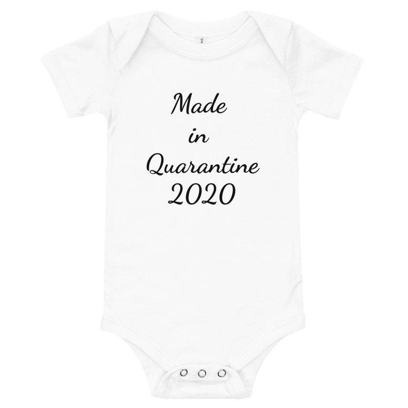 Funny Newborn Funny baby onesie Funny baby Bodysuit Christmas Baby Onesie Quarantine Baby Onesie Made in Quarantine 2020 Onesie