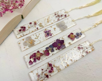 """Bookmark """"Flower""""   Bookmark Personalized   Bookmark Resin     gift ideas for you Souvenirs   Wedding   Engagement   Book"""