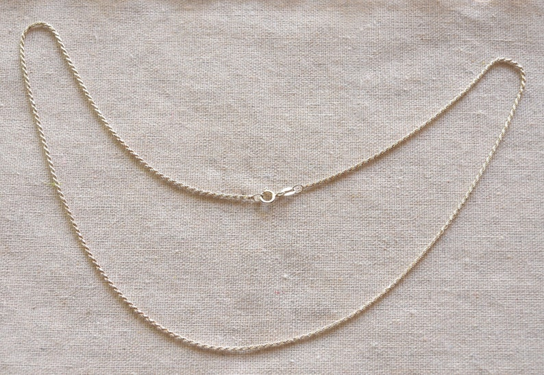 Sterling Silver Rope Neck Chain Silver 925 Rope Neck Chain