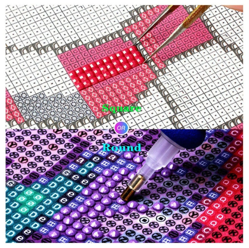 Unique DIY 5D new square  round diamond figure quick delivery picture mosaic cross embroidery mural home decoration children/'s gift