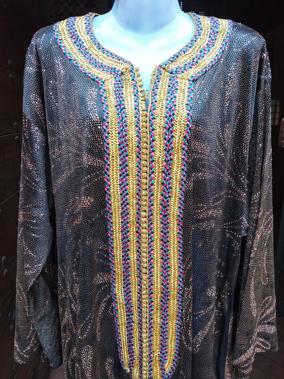 Vintage 1970s dress, Moroccan caftan, women dress,