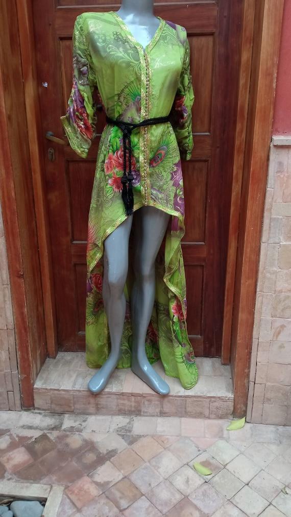 Vintage party dress, women dress, kaftan Handmade,