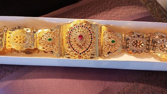 Vintage Wedding belt, Moroccan Handmade belt, engr