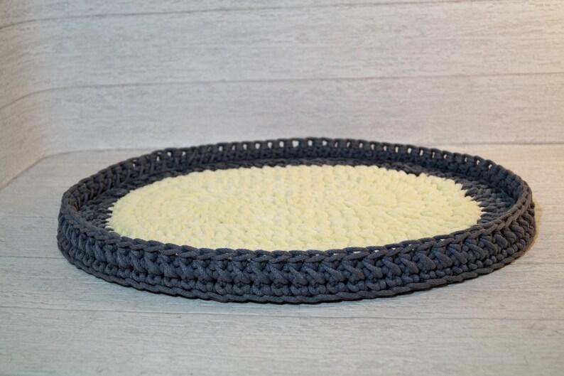 Crochet cat cot Cat sleeping bed Grey crochet cat bed  18