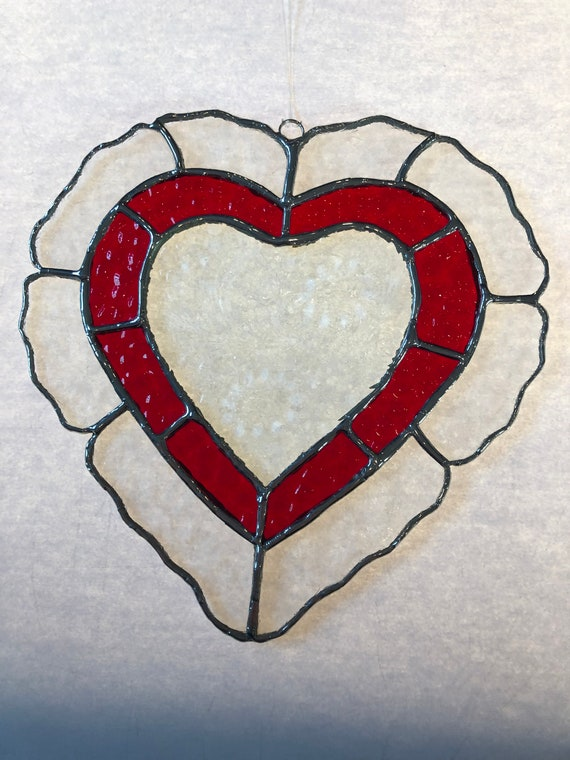 Phish Stained Glass Donut Heart Suncatcher