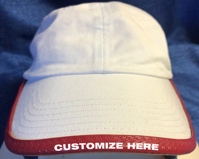 Transform any Hat Free Customization!!! CARDINAL RED Personalized Custom BRIMMTRIMM Hat Accessory For All Dad or Trucker Style HatsCaps
