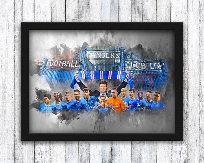 Rangers  Champions 55  20/21  Ibrox Gates  Scottish image 0