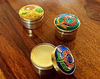 Solid Perfume Balm - Scents: Sandalwood  - Patchouli - Jasmine  - Rose -Buddha Delight -Amber -Lotus -Honey Suckle -Neroli -Aphrodesia -Musk