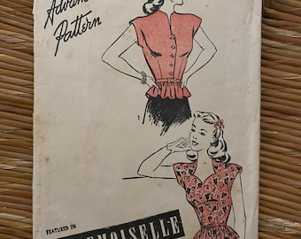 Vintage Advance Pattern Sewing Pattern 3901 Size 12 Bust 30