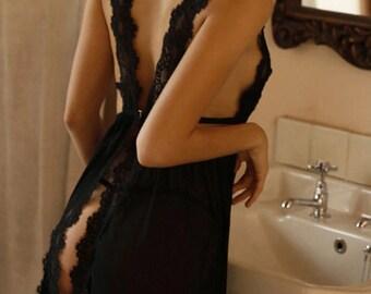 Lacework & Transparent Designed Sexy Lingerie Set