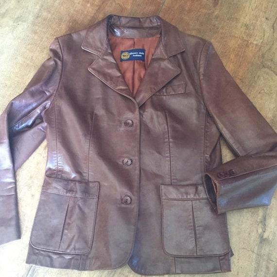 Vintage Leather Winners Circle Fashions Blazer Jac