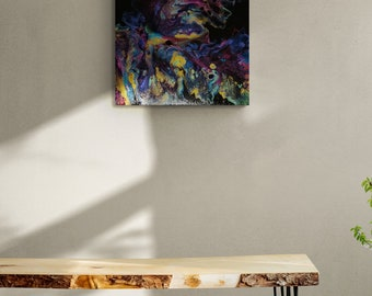 "Acrylic Dutch Pour Painting Fluid Art 20""x16"" Beautiful Gloss Varnish Finish"