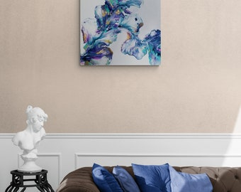 "Acrylic Dutch Pour Painting Fluid Art  20x16"" Beautiful Gloss Varnish Finish"