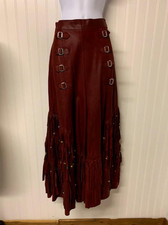 Vintage Suede Fringe Western Pants