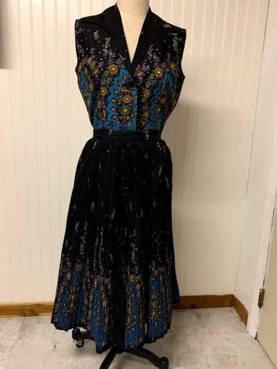 Vintage 1950's Koret of California Pleated Skirt S