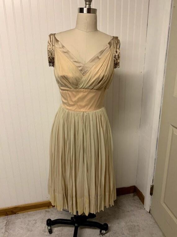 1950's Chiffon Dress - image 1