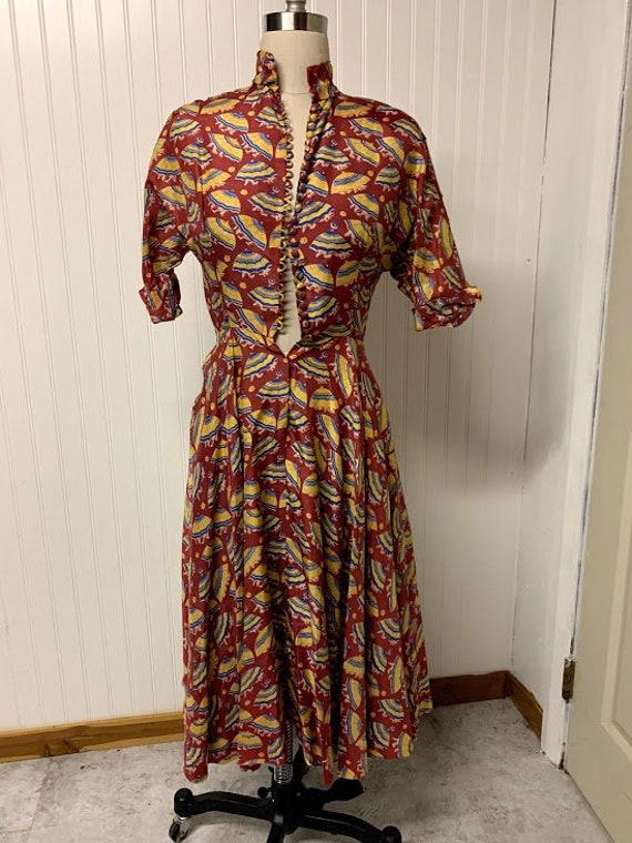 Vintage 1940's Ceil Chapman Dress