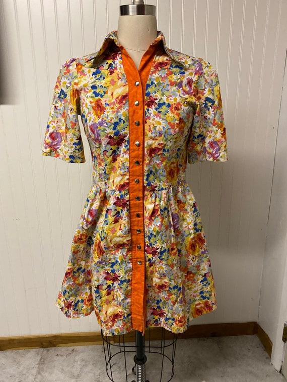 1960's Floral Mod Dress - image 1