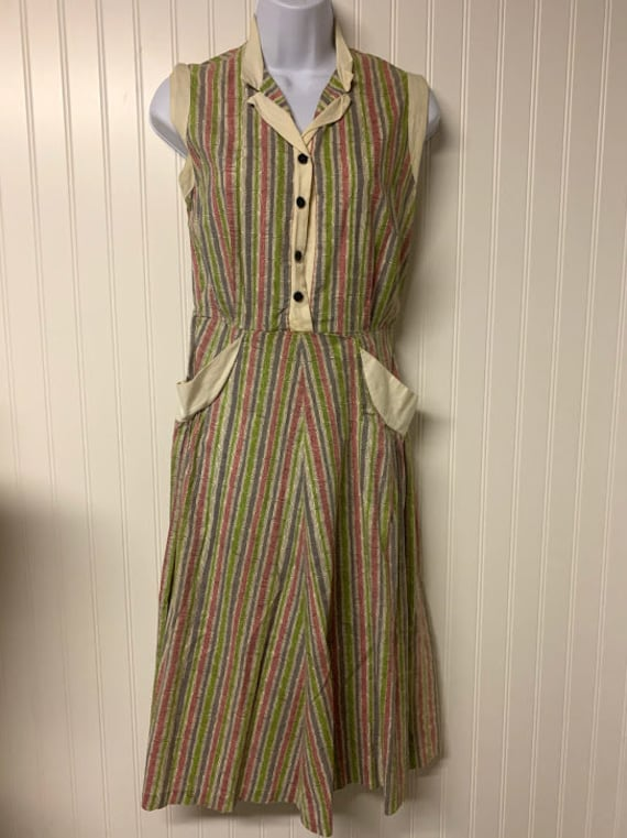 1930's Cotton Printed Dress